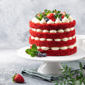 Four Layer Red Velvet Naked Cake