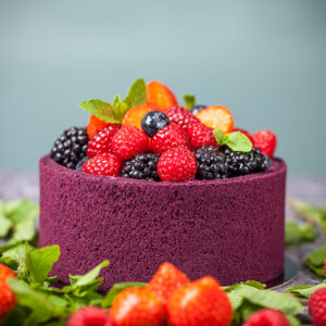 Velvet Berry Mousse Cake