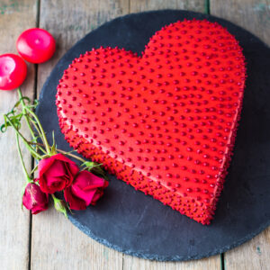Hearth Shaped Intense Love Cake