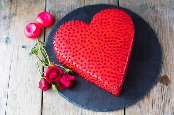 Hearth Shaped Intense Love Cake